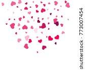 heart confetti beautifully... | Shutterstock .eps vector #773007454