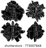 futuristic globe megalopolis...   Shutterstock .eps vector #773007868