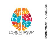 creative brain logo design.... | Shutterstock .eps vector #773008858