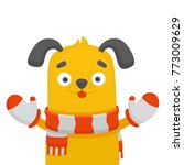 dog yellow puppy | Shutterstock .eps vector #773009629