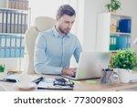 portrait of confident serious...   Shutterstock . vector #773009803