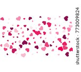 heart confetti beautifully... | Shutterstock .eps vector #773009824