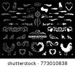 vector calligraphic elements... | Shutterstock .eps vector #773010838