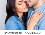 close up cropped portrait of... | Shutterstock . vector #773015110