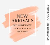 new arrivals sale text over art ... | Shutterstock .eps vector #773016019
