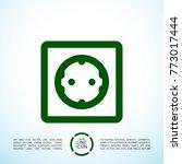 power socket minimal icon.... | Shutterstock .eps vector #773017444