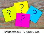 questions  decision making or... | Shutterstock . vector #773019136