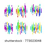 abstract colorful gradient...   Shutterstock .eps vector #773023048