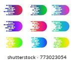 speed concept. vector motion...   Shutterstock .eps vector #773023054