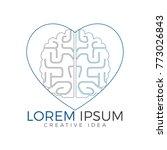 creative brain heart shape logo ... | Shutterstock .eps vector #773026843