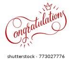 congratulations card banner... | Shutterstock .eps vector #773027776