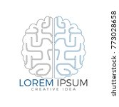 creative brain logo design.... | Shutterstock .eps vector #773028658