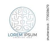 creative brain logo design....   Shutterstock .eps vector #773028670