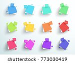 numbered abstract colorful... | Shutterstock .eps vector #773030419