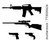 semi automatic rifle  bolt... | Shutterstock .eps vector #773030626