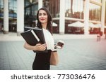businesswoman going to work | Shutterstock . vector #773036476