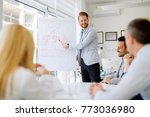 presentation and collaboration... | Shutterstock . vector #773036980