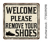 welcome please remove your... | Shutterstock .eps vector #773039098