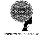 portrait african women   dark... | Shutterstock .eps vector #773040250