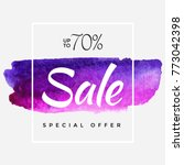 watercolor special offer  super ... | Shutterstock .eps vector #773042398
