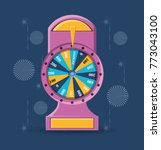 fortune wheel design | Shutterstock .eps vector #773043100