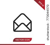 mail vector icon. | Shutterstock .eps vector #773044570
