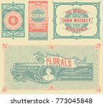 set of 4 old labels | Shutterstock .eps vector #773045848