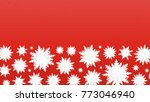 origami snowflakes. merry... | Shutterstock .eps vector #773046940