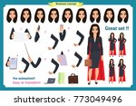 set of super businesswoman... | Shutterstock .eps vector #773049496