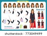 set of super businesswoman... | Shutterstock .eps vector #773049499