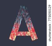modern creative alphabet in red ... | Shutterstock .eps vector #773050129