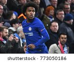 Small photo of LONDON, UK - Decemebr 5, 2017: Willian pictured during the UEFA Champions League Group C game between Chelsea FC and Atletico Madrid at Stamford Bridge Stadium.