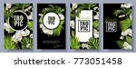 vector botanical vertical... | Shutterstock .eps vector #773051458