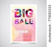 sale poster background    Shutterstock .eps vector #773052223