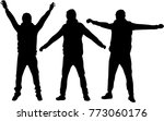 people silhouettes. vector works | Shutterstock .eps vector #773060176
