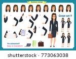 set of businesswoman character... | Shutterstock .eps vector #773063038