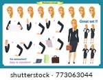 set of businesswoman character... | Shutterstock .eps vector #773063044