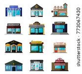different shops  buildings and... | Shutterstock .eps vector #773067430