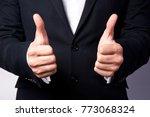 gaining bosses approval ... | Shutterstock . vector #773068324