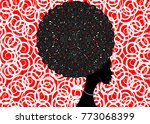 portrait african women   dark... | Shutterstock .eps vector #773068399