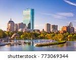 boston  massachusetts  usa city ... | Shutterstock . vector #773069344
