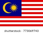 national flag of malasia | Shutterstock . vector #773069743
