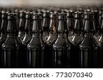 bottle made of brown glass... | Shutterstock . vector #773070340