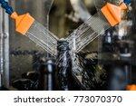 brown glass 500ml beer bottles...   Shutterstock . vector #773070370