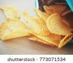potato chip in the bag | Shutterstock . vector #773071534