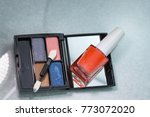 professional pallet of eyeshadow | Shutterstock . vector #773072020