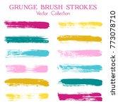 watercolor  ink or paint brush... | Shutterstock . vector #773078710