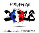 abstract number 2018 and soccer ... | Shutterstock .eps vector #773082250