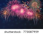 beautiful colorful fireworks... | Shutterstock . vector #773087959