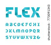 paper font. vector alphabet... | Shutterstock .eps vector #773091343
